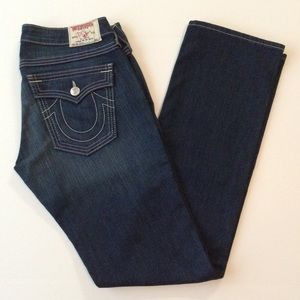 True religion jeans style billy white stitch